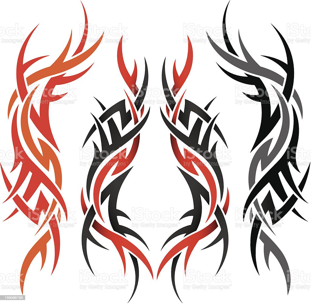 Gothic vector elements for design in tattoo style royalty-free stock photo