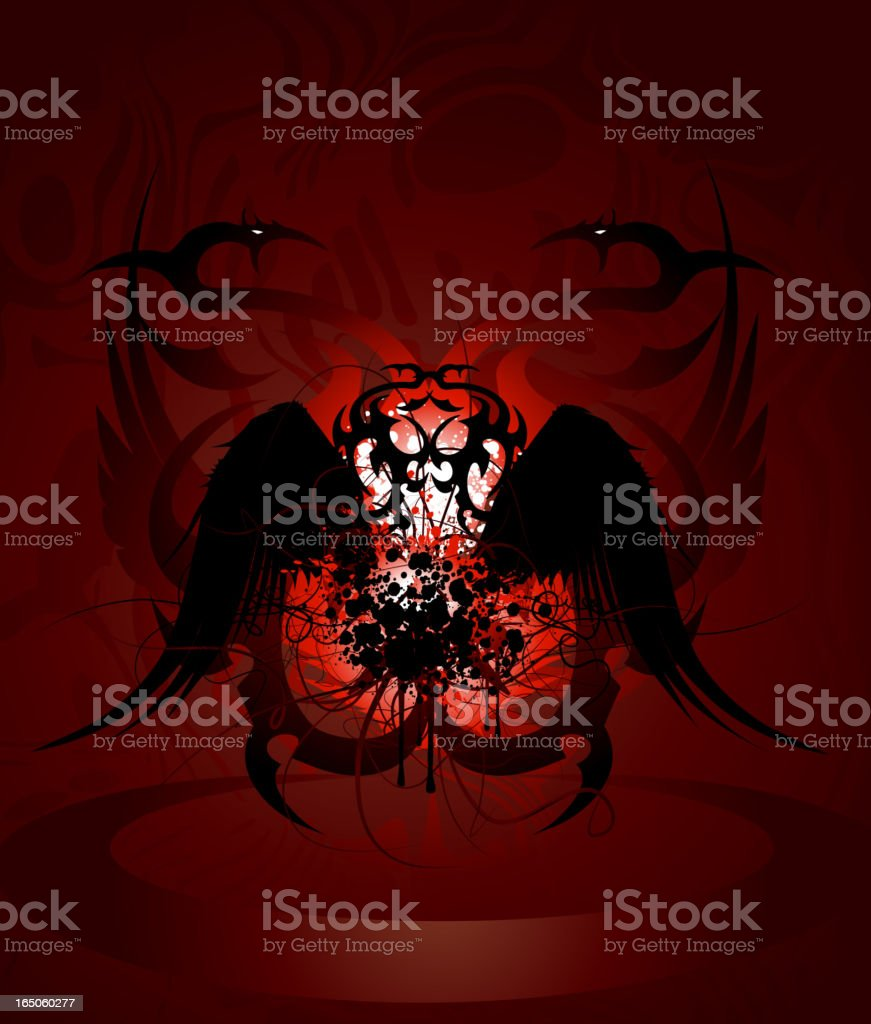 Gothic Wings royalty-free stock vector art