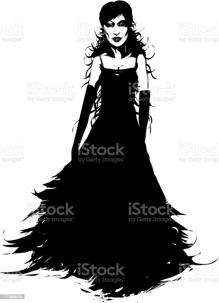 gothic woman royalty-free stock vector art