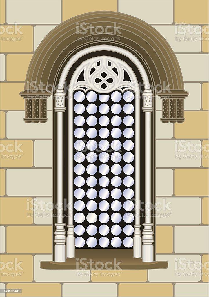 Gothic-renaissance window royalty-free stock vector art