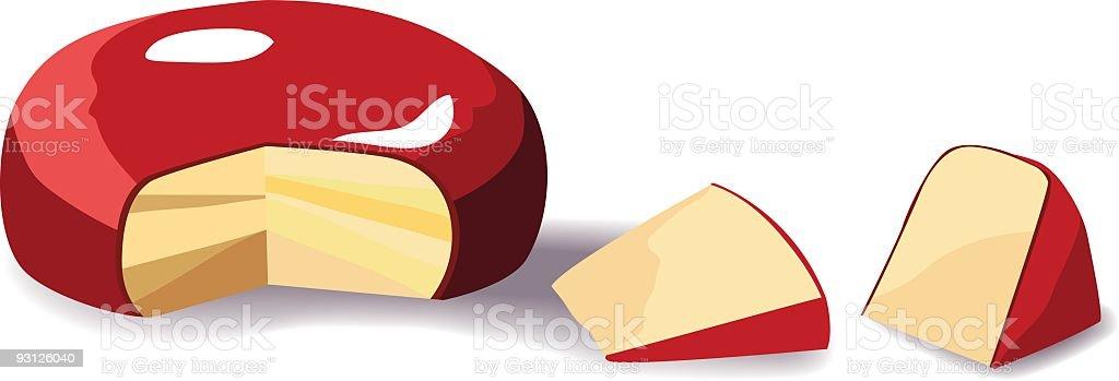 Gouda Cheese Illustration royalty-free stock vector art