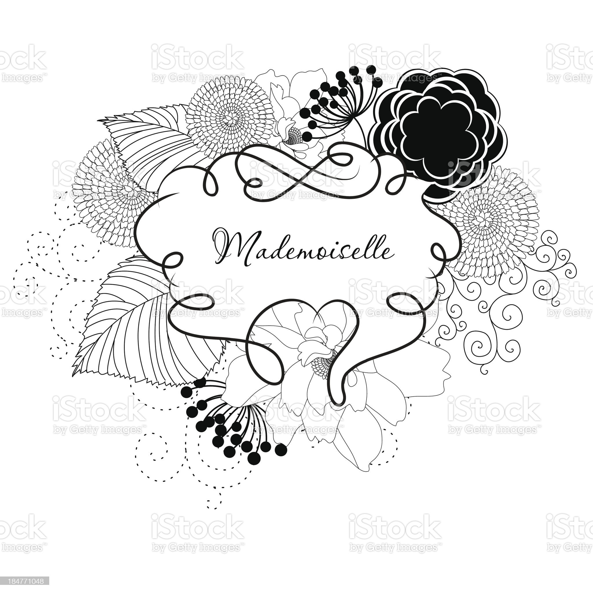 Gourgeous Doodle frame royalty-free stock vector art