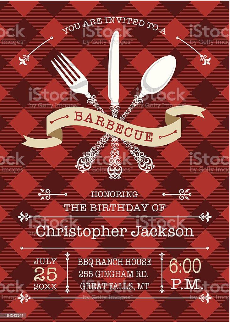 Gourmet Barbecue Invitation vector art illustration