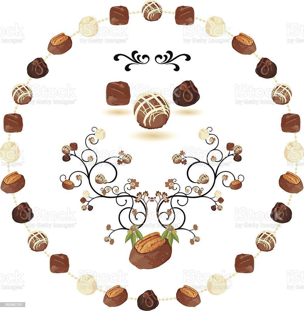 Gourmet Chocolate Bush vector art illustration