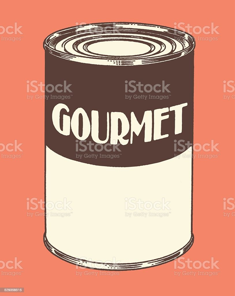 Gourmet Soup Can vector art illustration