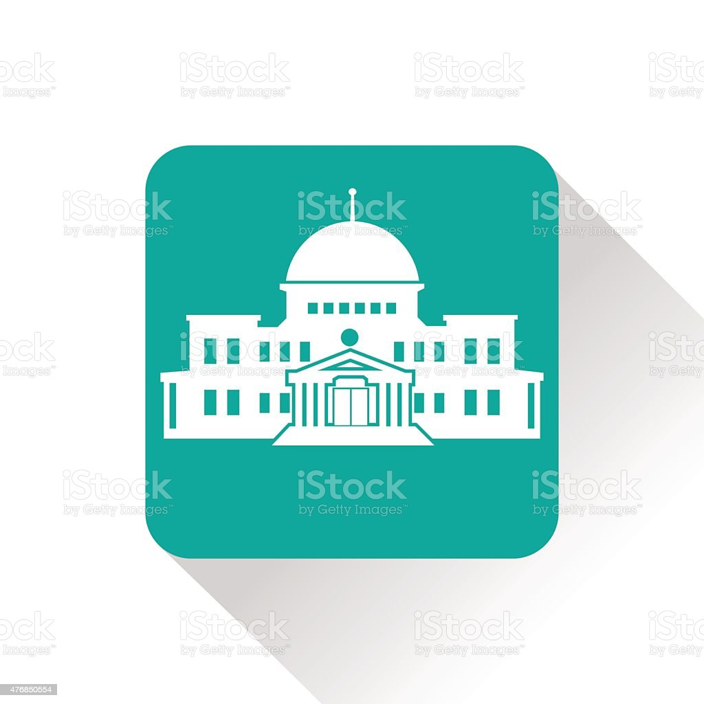 government building vector art illustration