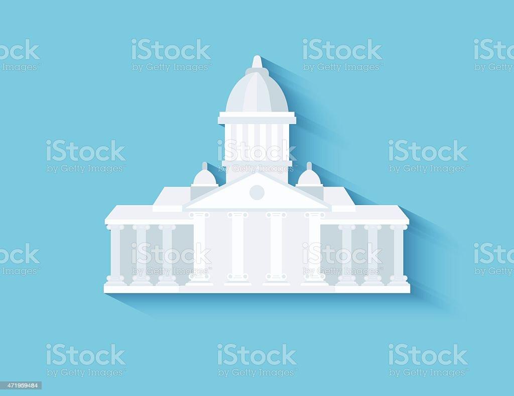Government flat design vector art illustration
