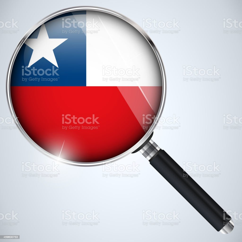 NSA USA Government Spy Program Country Chile royalty-free stock vector art