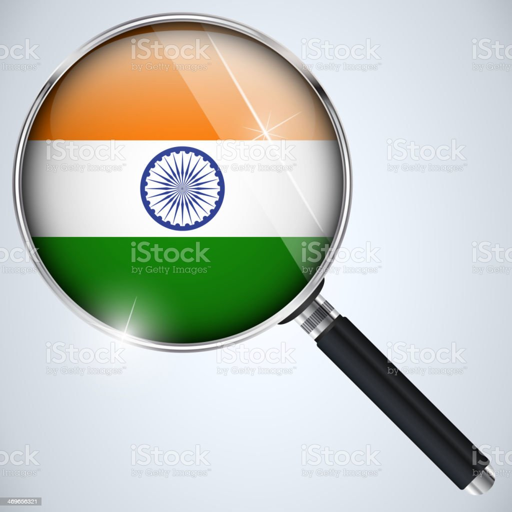 NSA USA Government Spy Program Country India royalty-free stock vector art