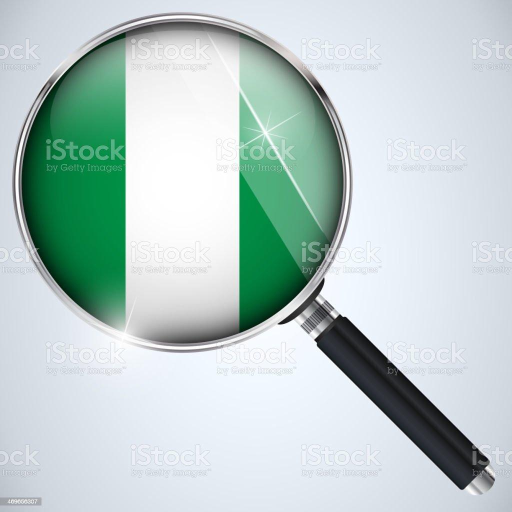 NSA USA Government Spy Program Country Nigeria royalty-free stock vector art