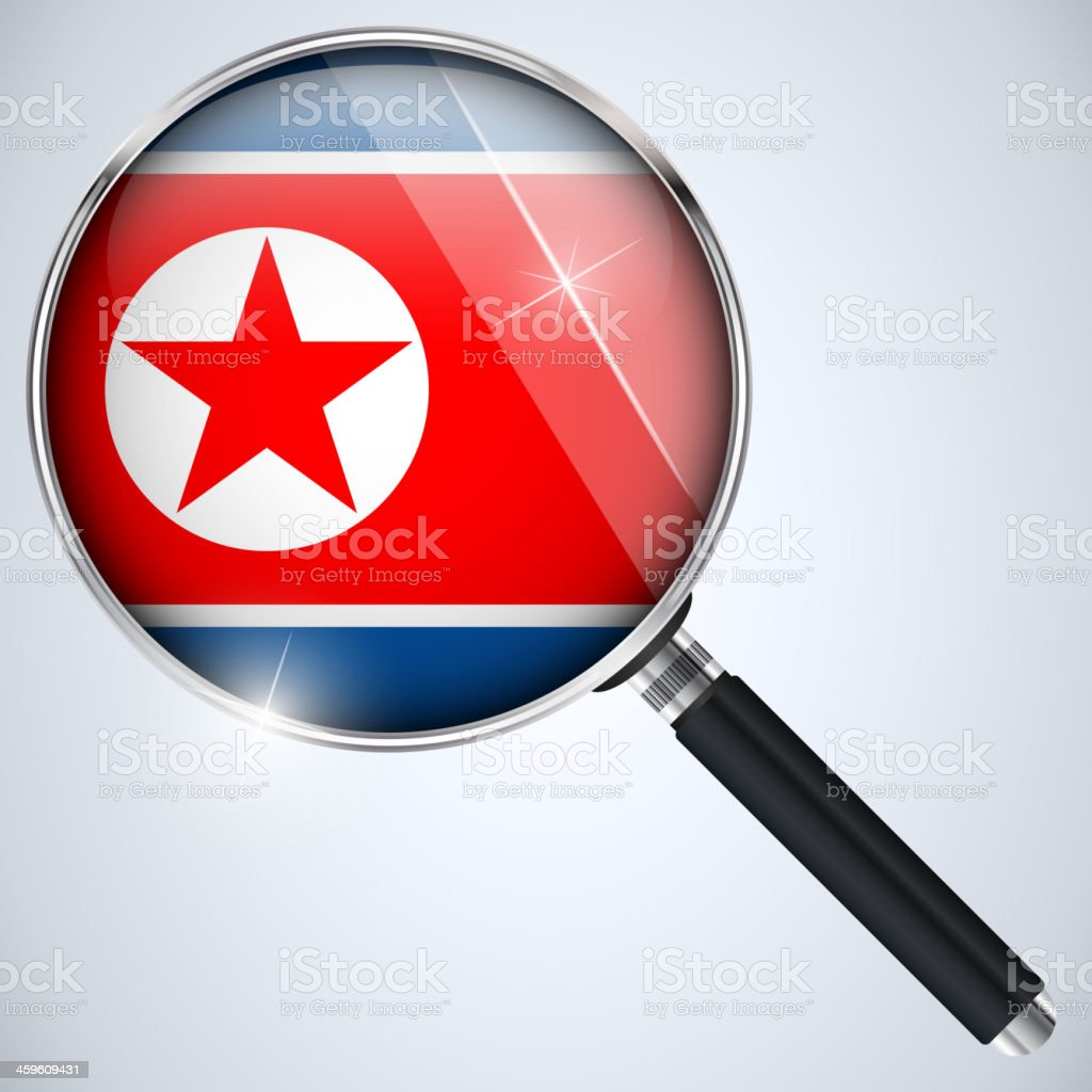 NSA USA Government Spy Program Country North Korea royalty-free stock vector art