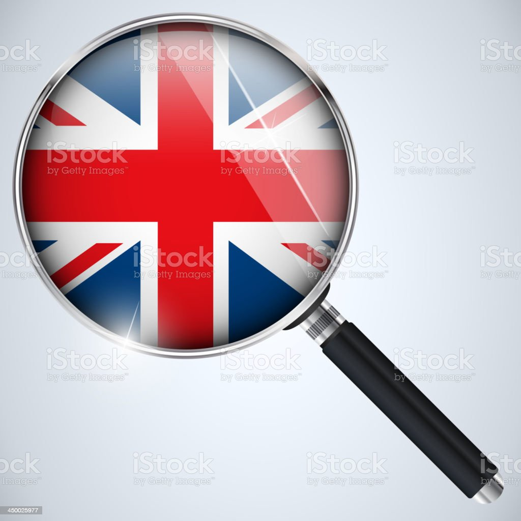 NSA USA Government Spy Program Country UK royalty-free stock vector art