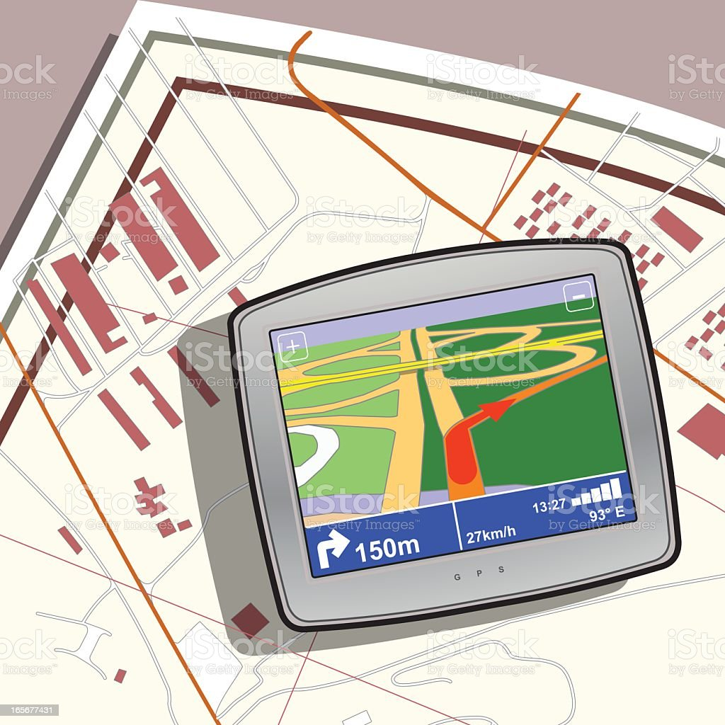 gps device royalty-free stock vector art