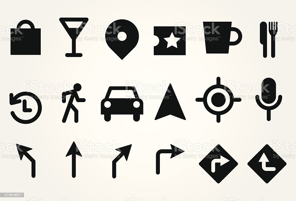 Gps icons vector art illustration