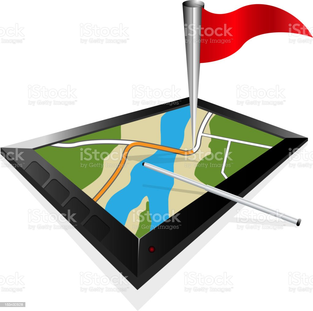 gps navigation, home point royalty-free stock vector art