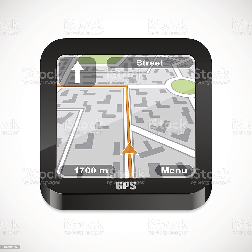 Gps navigator icon royalty-free stock vector art