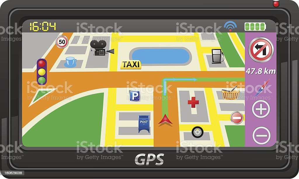 gps navigator vector illustration royalty-free stock vector art