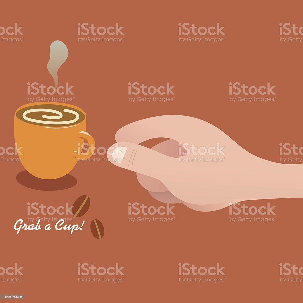 Grab A Cuppa Coffee! royalty-free stock vector art