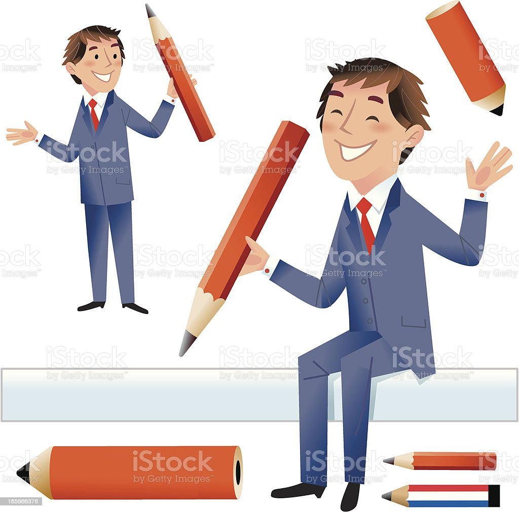 Grab a pencil and sign! royalty-free stock vector art