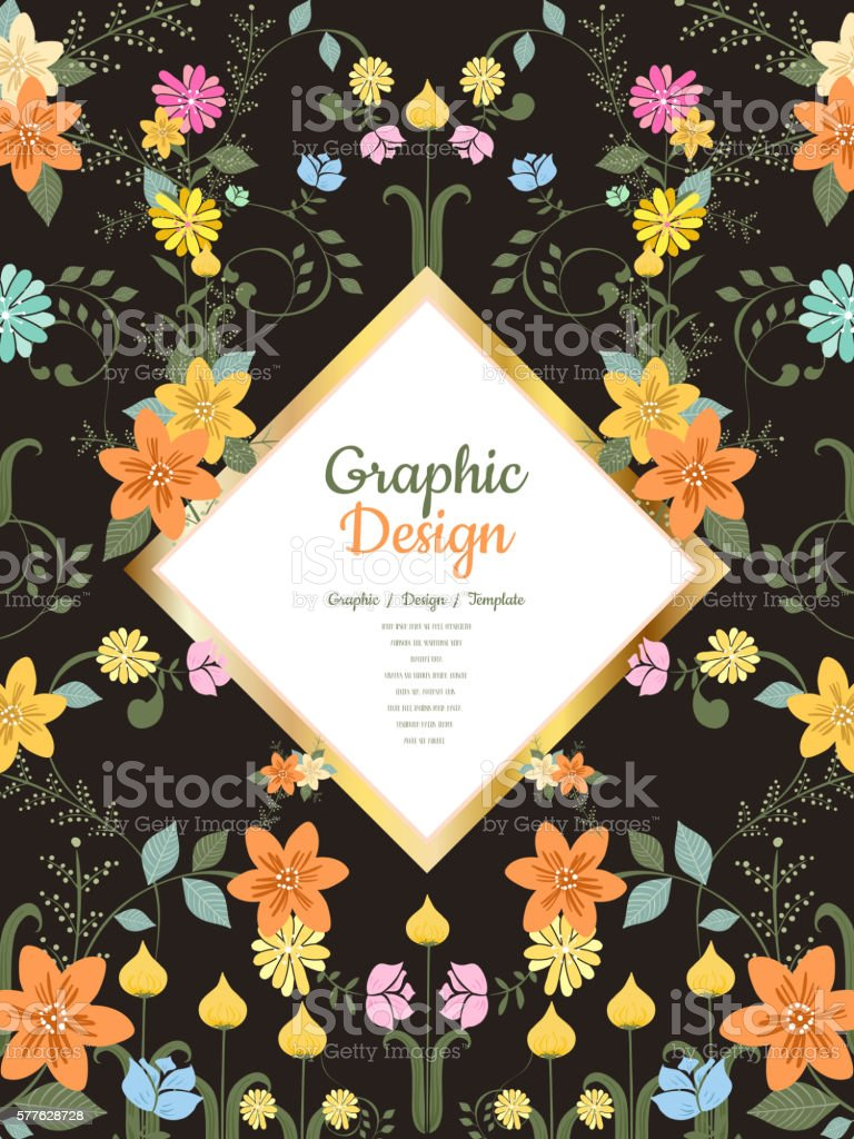 graceful brochure template vector art illustration