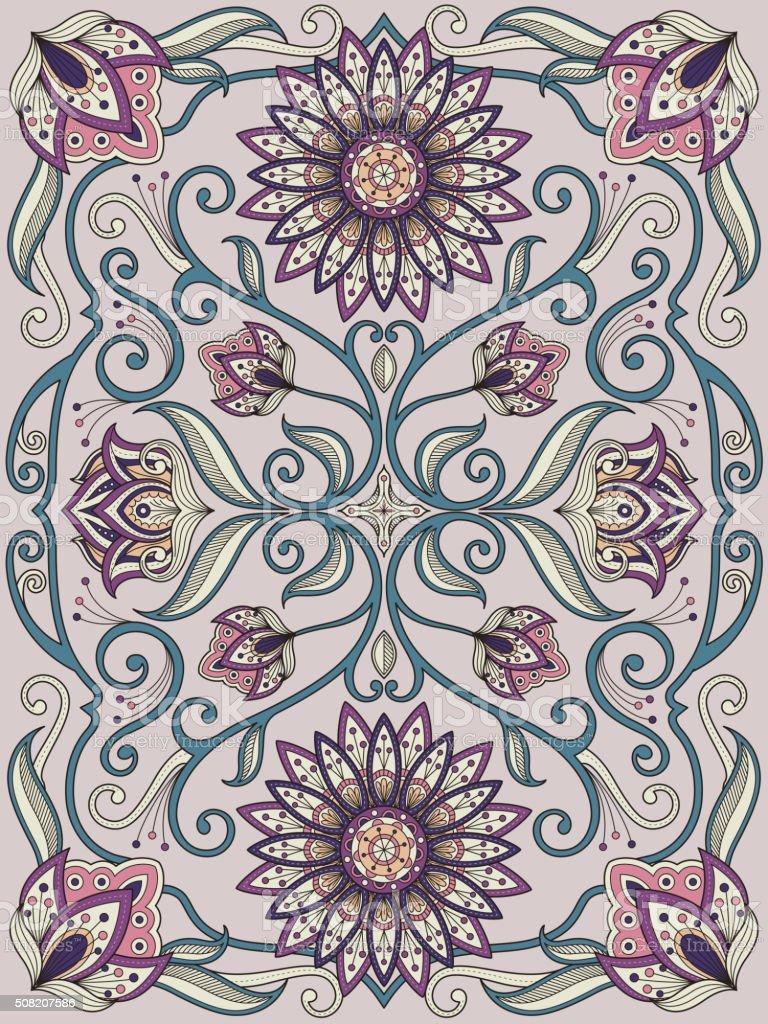 graceful flower coloring page vector art illustration