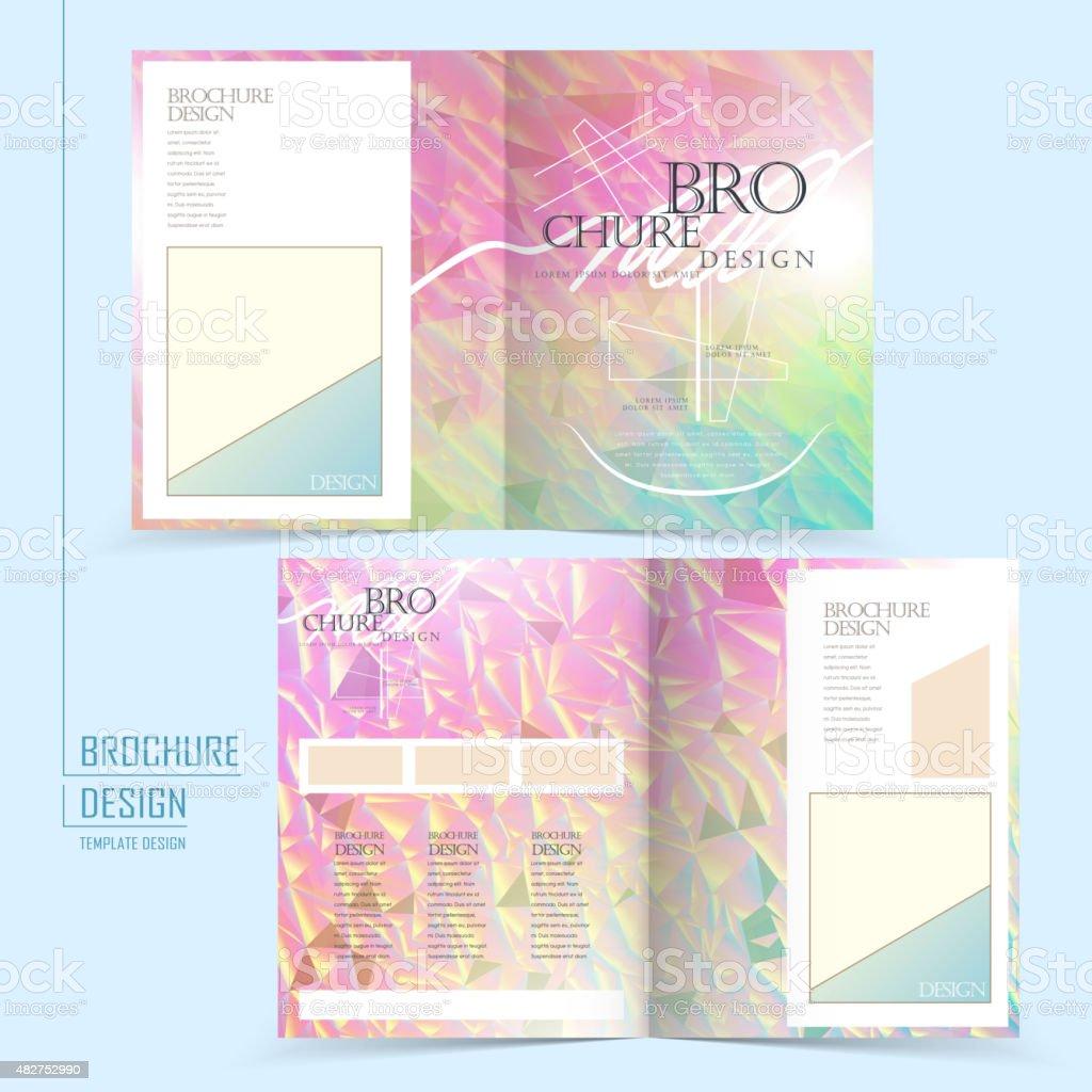 graceful half-fold template design vector art illustration