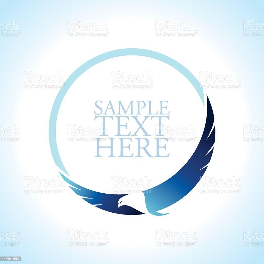 Graceful soaring eagle logo vector art illustration