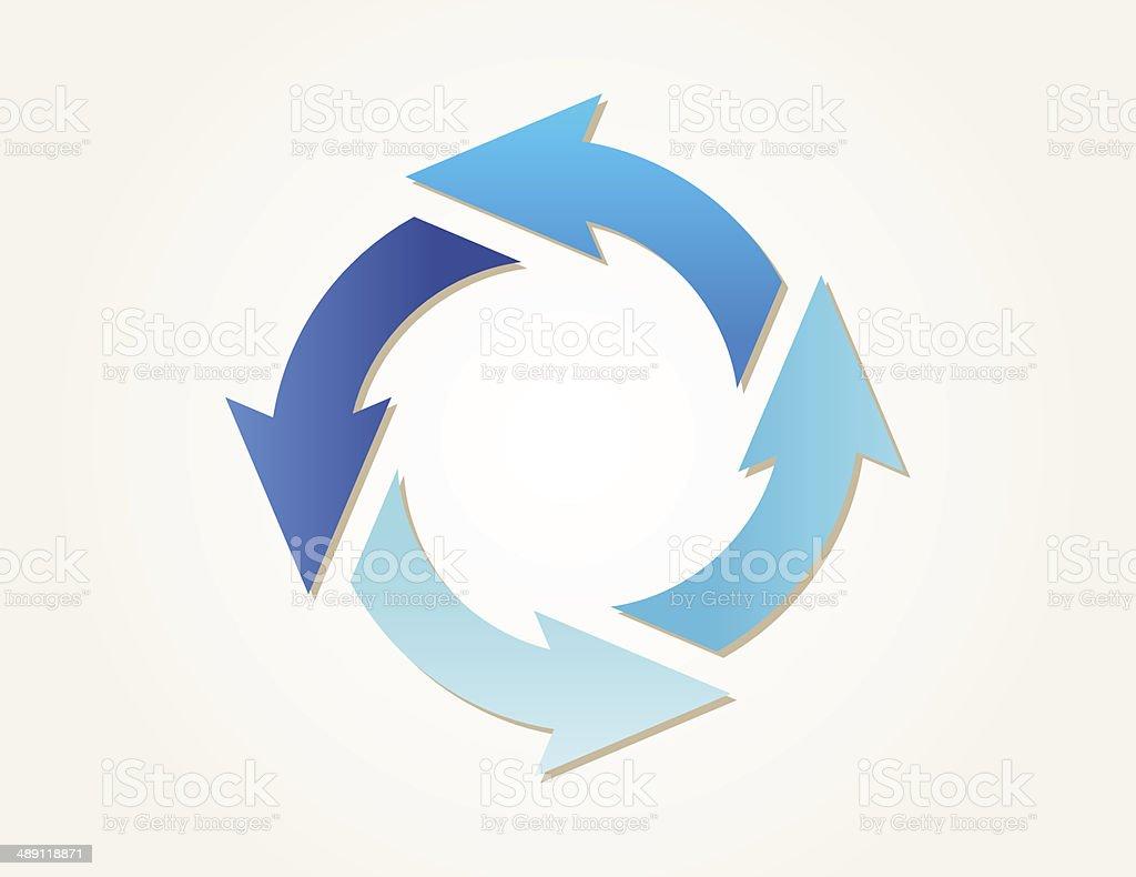 gradient circle arrows vector art illustration