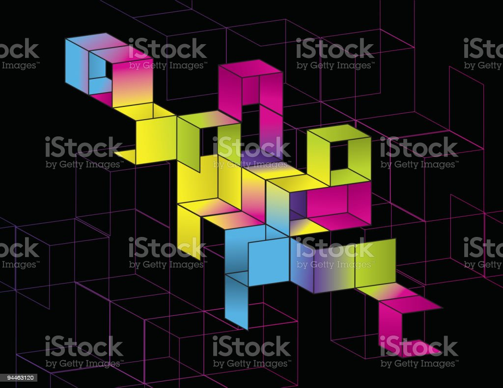 Gradient Cube Page Design royalty-free stock vector art