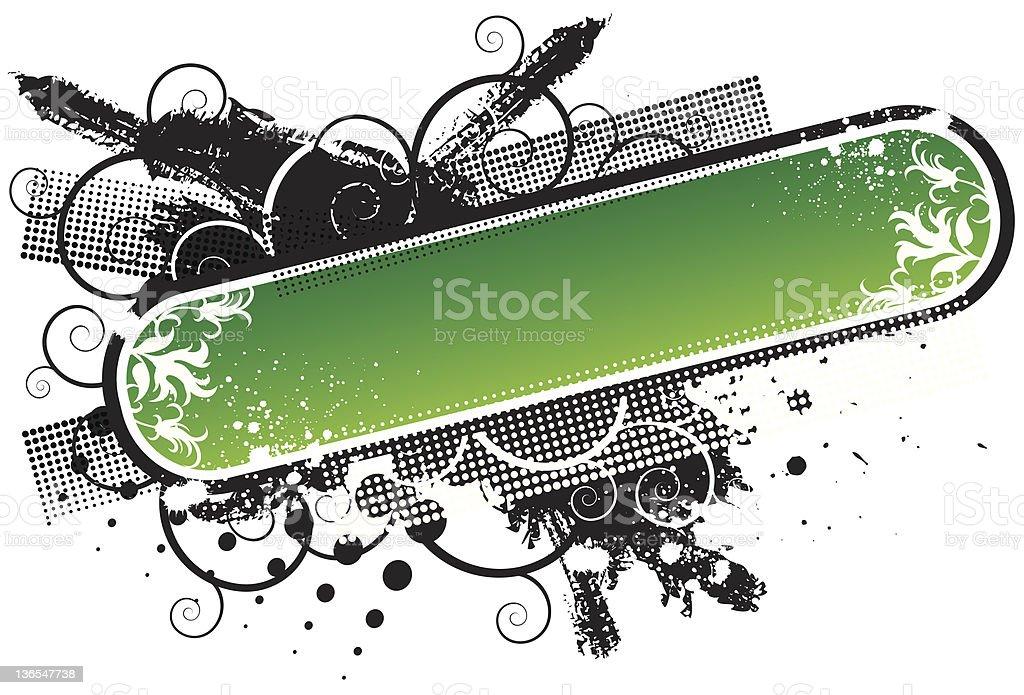 Gradient grunge bar royalty-free stock vector art