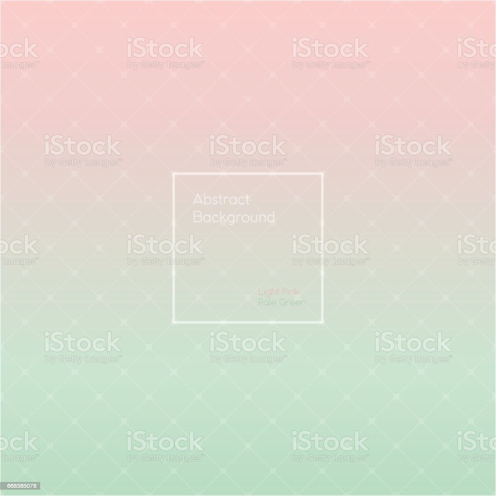 Gradient Light Rose and Pale Green colored triangle polygon pattern vintage background vector art illustration