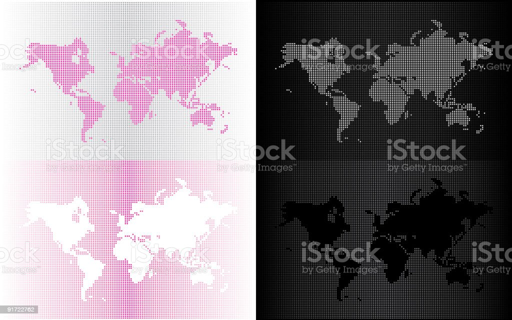 Gradient World Map royalty-free stock vector art