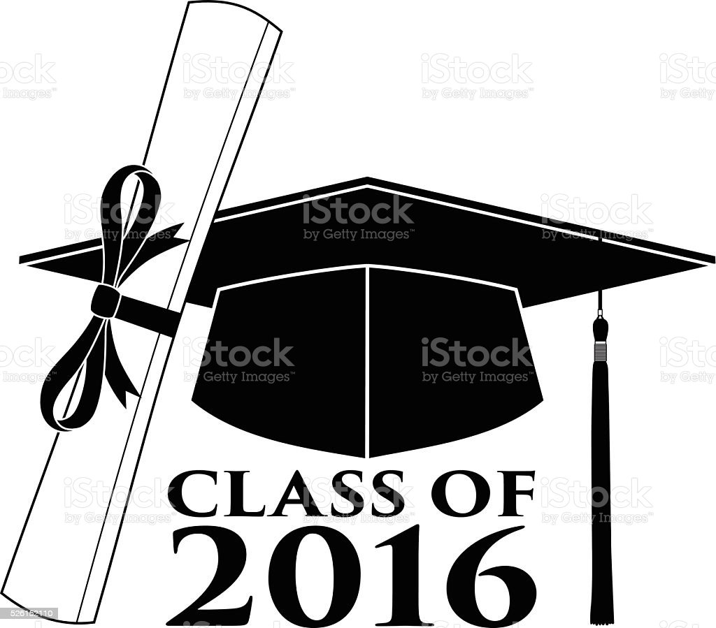Graduate - Class of 2016 vector art illustration