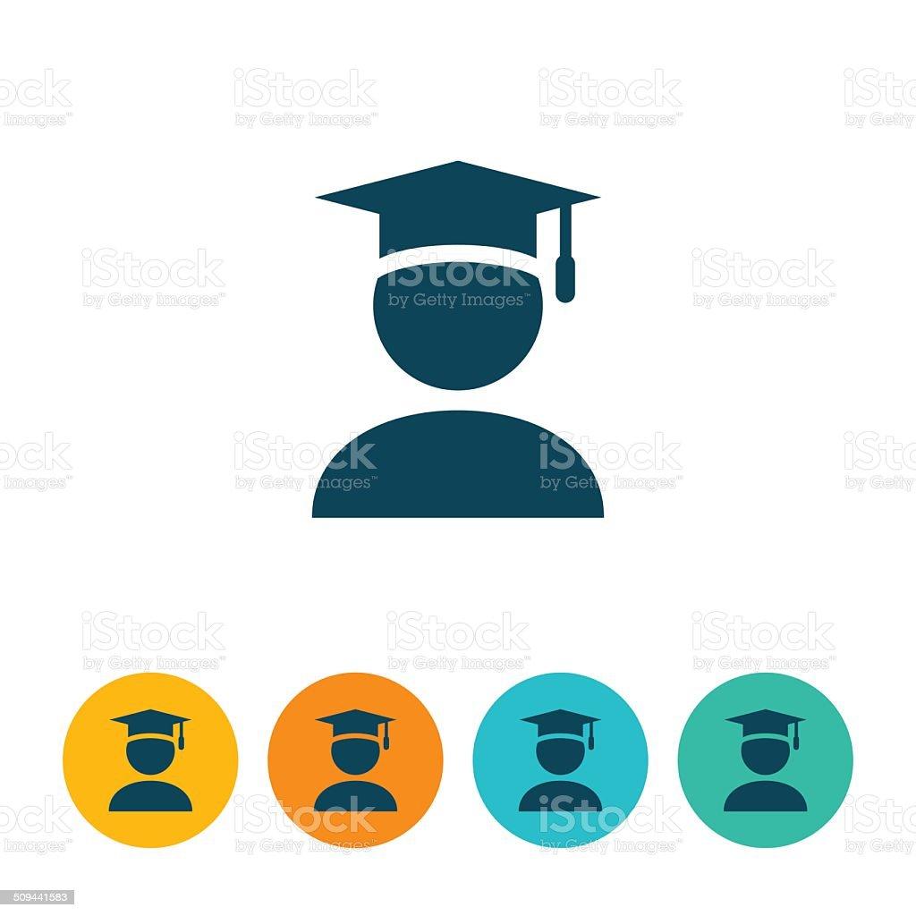 Graduate Icon vector art illustration