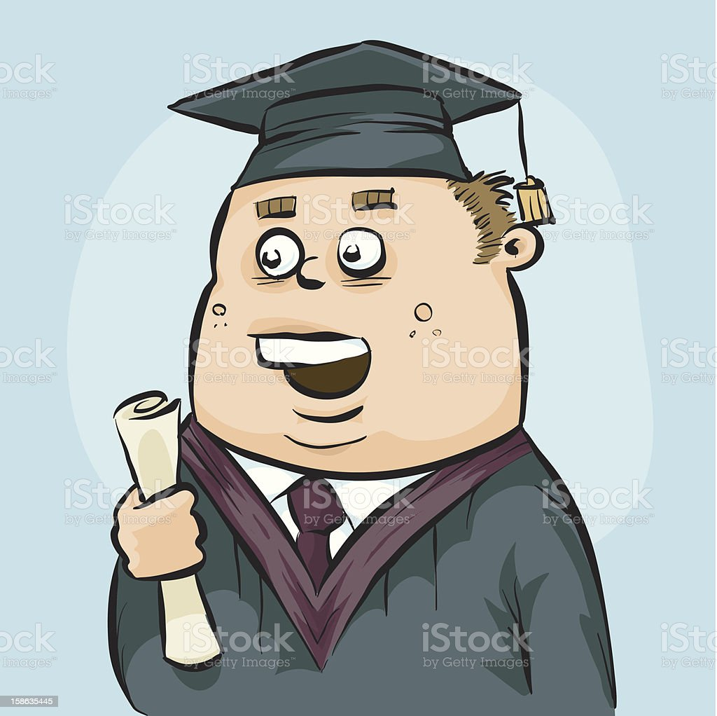 Graduate vector art illustration