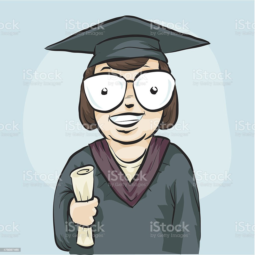 Graduate royalty-free stock vector art