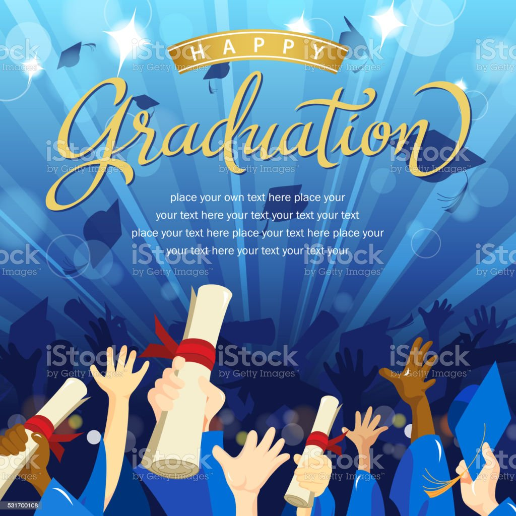 Graduates Celebration vector art illustration