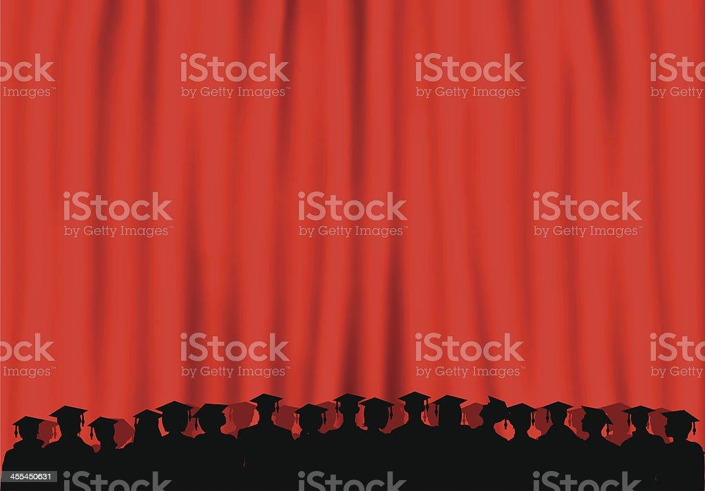 Graduates (People Are Moveable and Complete Down to the Waste) royalty-free stock vector art