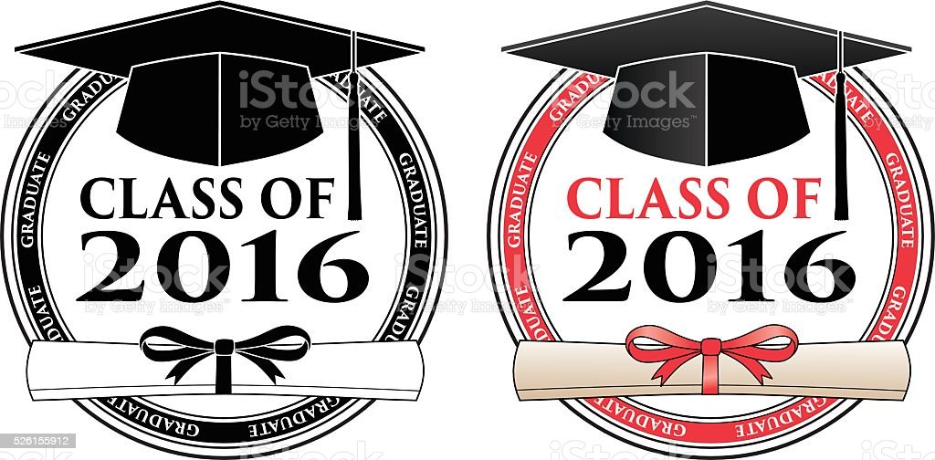 Graduating Class of 2016 vector art illustration
