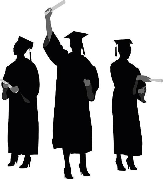 Graduation Silhouette Clip Art, Vector Images ...