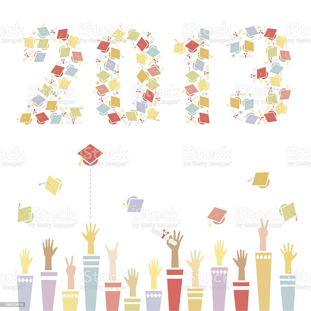 Graduation 2013 vector art illustration
