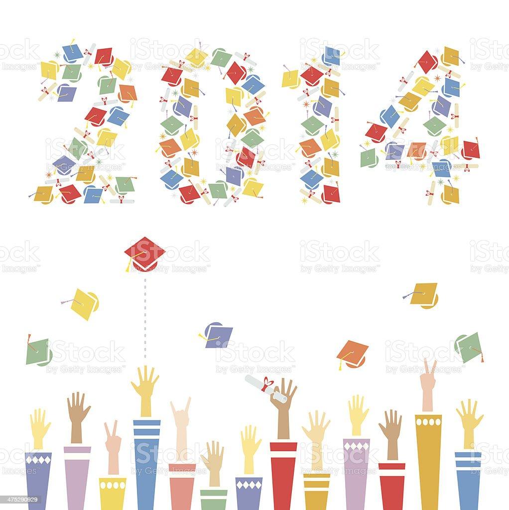 Graduation 2014 vector art illustration
