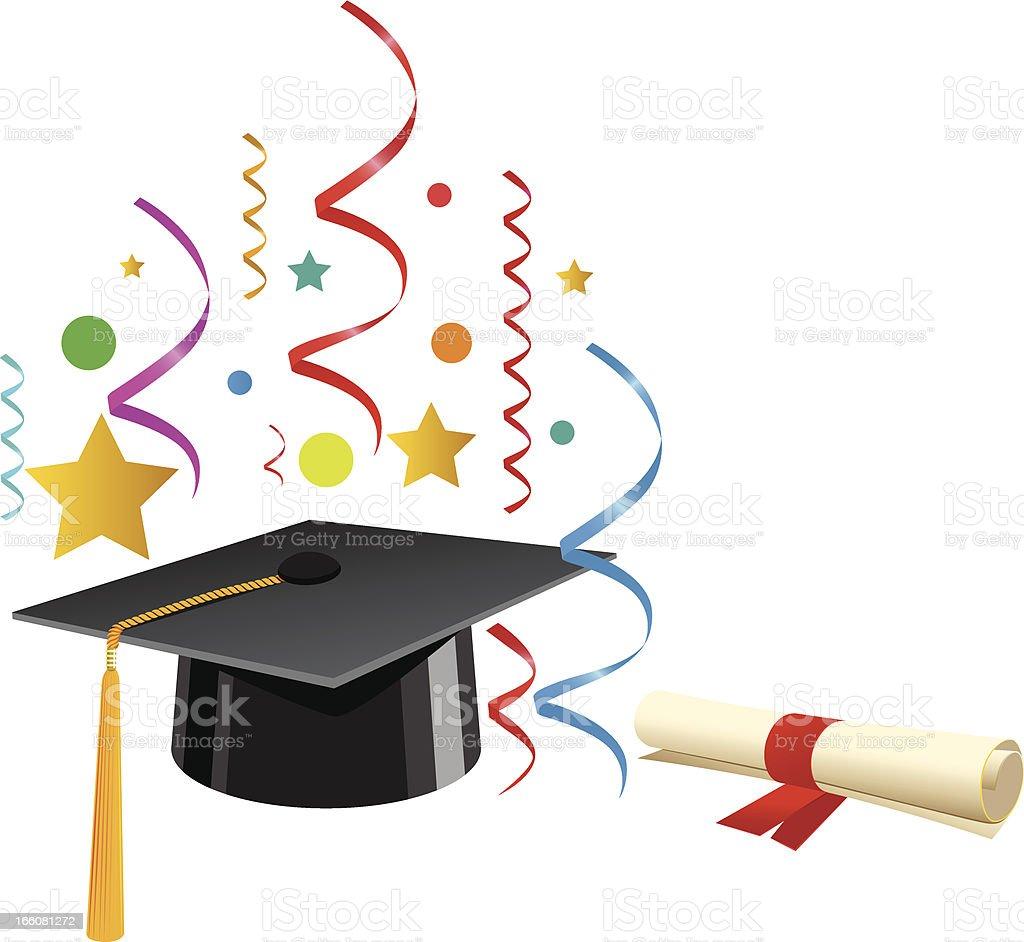 Graduation and Celebration vector art illustration