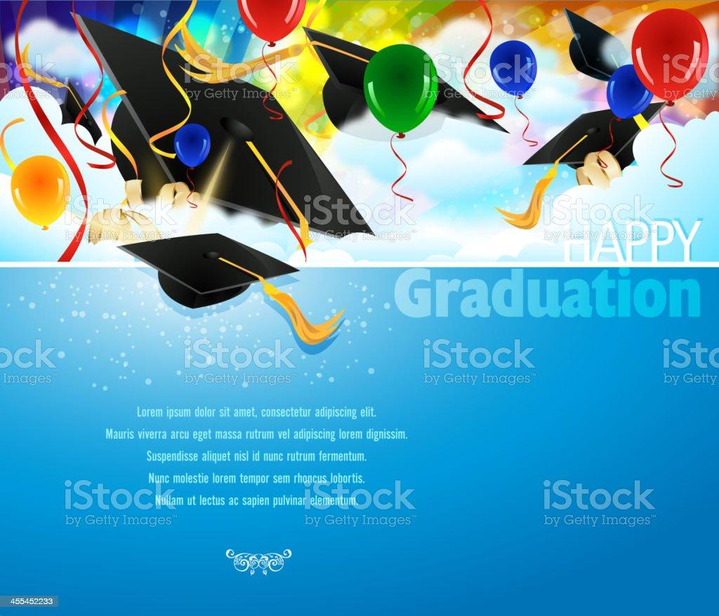 Graduation Background vector art illustration
