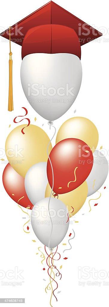 Graduation Balloons royalty-free stock vector art