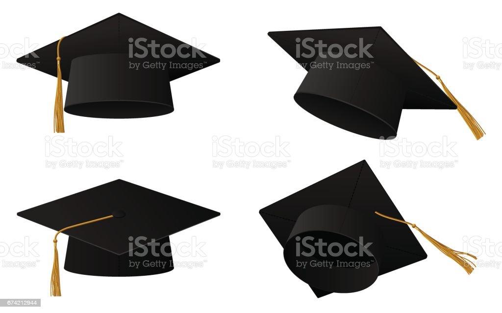 Graduation cap illustration vector art illustration