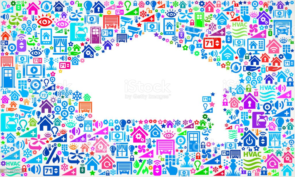 Graduation Cap on Home Automation and Security Vector Background vector art illustration