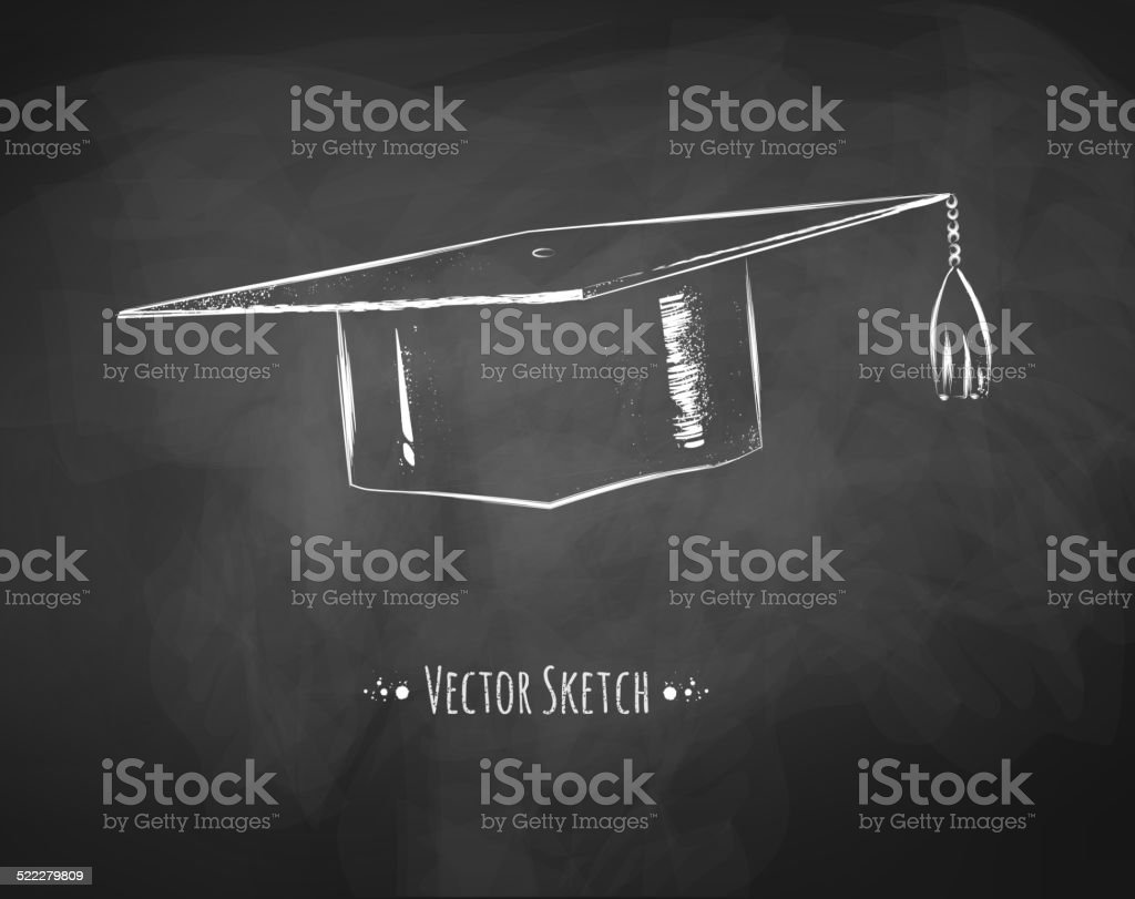 Graduation cap. vector art illustration