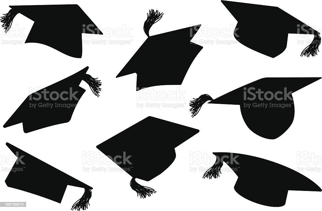 Graduation Caps / MortarBoards royalty-free stock vector art