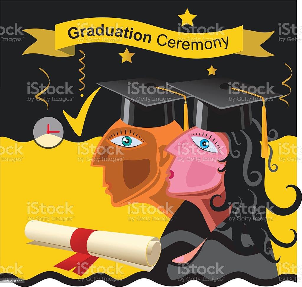 Graduation Ceremony royalty-free stock vector art